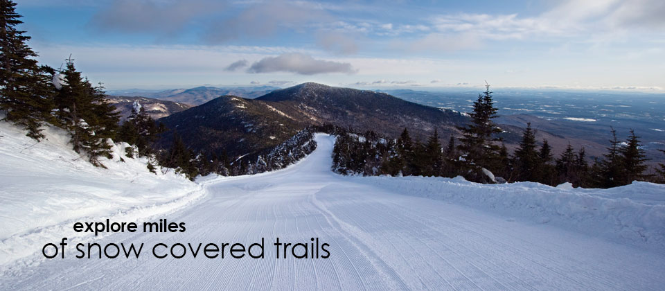 Explore miles of snow covered trails