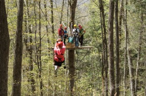 ArborTrek zip line canopy tour Smugglers' Notch