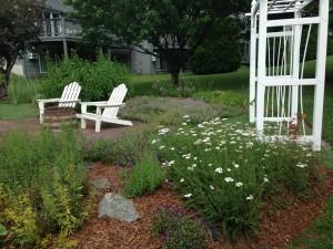 Vermont herb garden