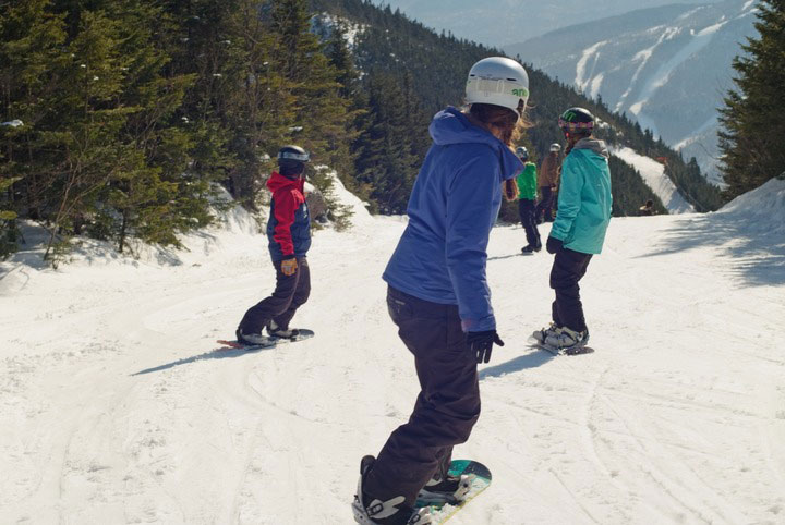 Snowboarding Smugglers' Notch Resort