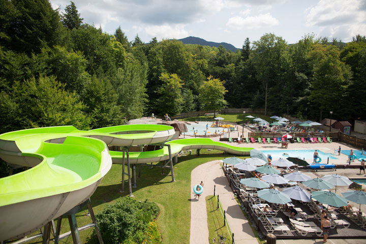Mountainside pool at Smugglers' Notch Vermont