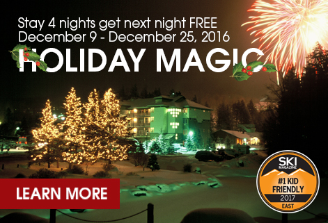 Holiday magic: Stay 4 nights, get next night FREE, Dec. 9-25, 2016. Learn more!