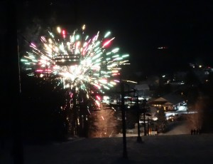 chairlift fireworks