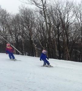 Hannah and Hayleigh on Snow Snake