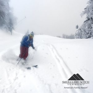 There's nothing quite like the sound (or lack thereof) of skis slicing through fresh snow!