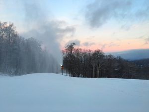 snowmakiing practice slope