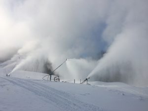 snowmaking practice slope