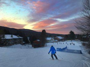ski into the sunset