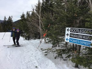 Doug, Dodi, and I enjoyed skiing the Alley and Highlander Glades.