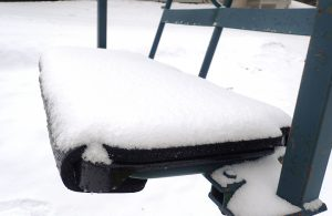 New snow on chair