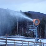 Snowmaking on Sir Henry's Learning Hill