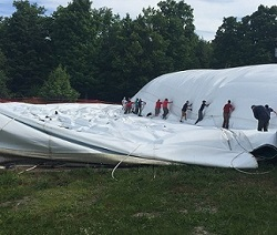 Crew Taking down the Bubble at the FunZone site