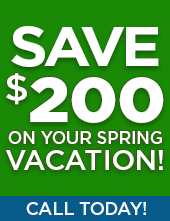 Save $200 on your Spring Vacation