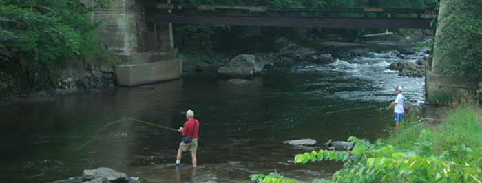 Fishing near Smugglers' Notch