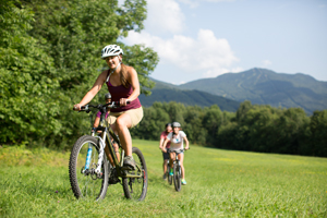 Smugglers' Notch Resort's country setting offers many road and mountain biking opportunities along trails and roads