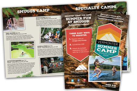 Summer Fun University Vermonter Camp Brochure
