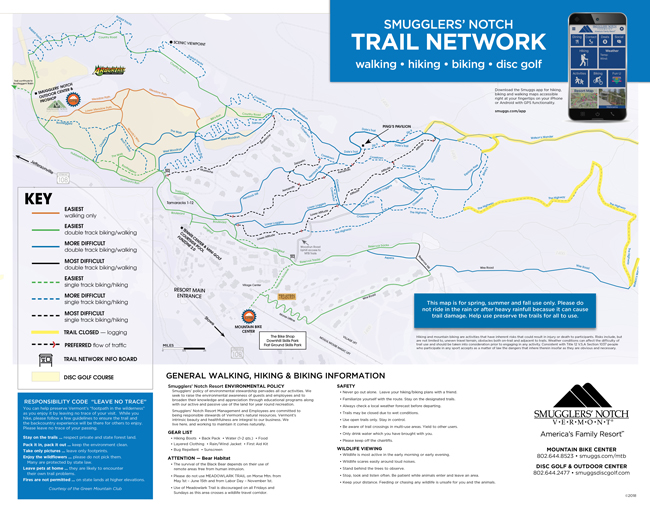 Mountain Biking Trail Map