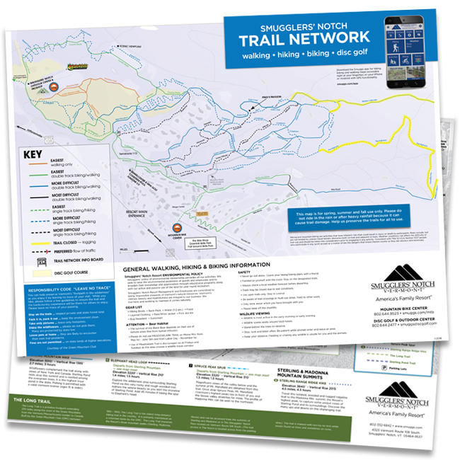 Smugglers' Notch Vermont Fall Hiking Map on orienteering map, hiking tours, hiking trail, following a map, trail map, hunting map, space exploration map, hiking tracks, nature map, places to go map, hiking tips,
