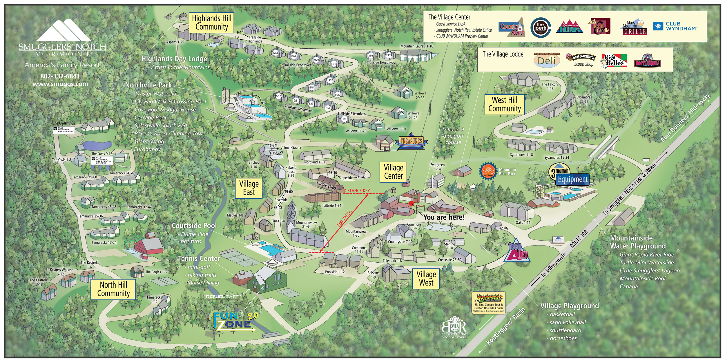 Resort Floor Plan Smugglers Notch Vermont Summer Village Map