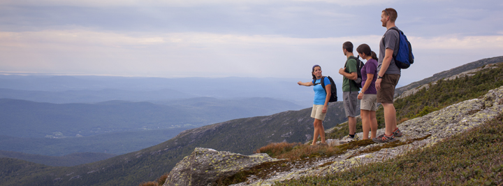 Hikers on Mount Mansfield