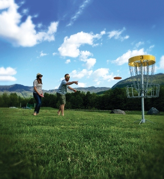 Disc golf at Smugglers' Notch Resort