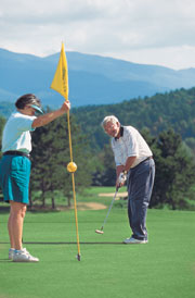 Several golf courses are located near Smugglers' Notch Resort