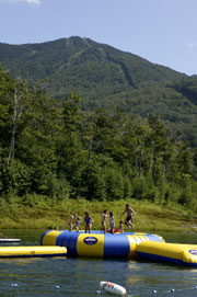 Aqua Jump at Smugglers' Notch Resort's Rum Runners' Hideaway
