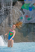 Splashtime in Smugglers' Notch Resort's swimming lagoon