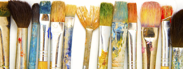 Artist paint brushes.