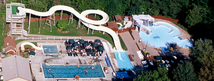 Aerial view of Mountainside Water Playground