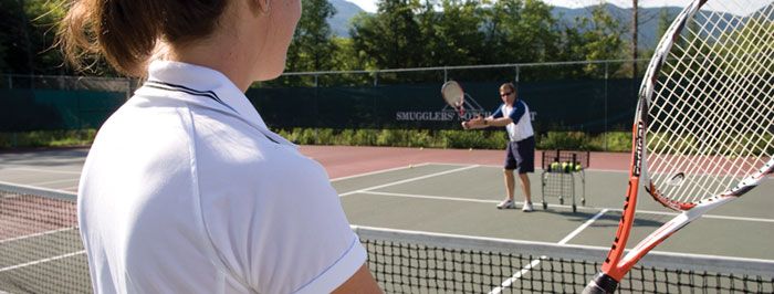 Outdoor tennis courts for all kinds of play and instruction