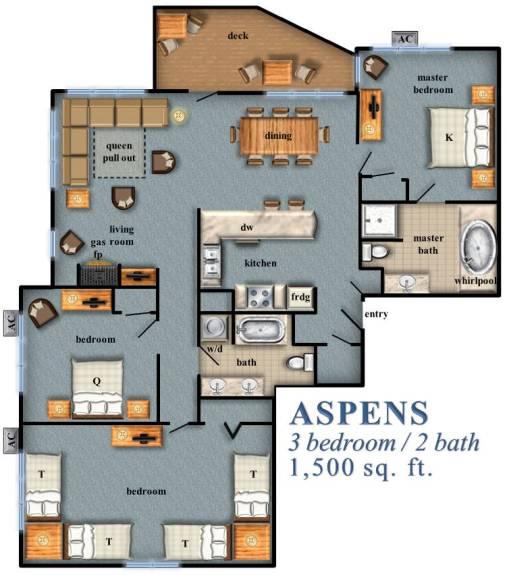 Aspens 3 Bedroom