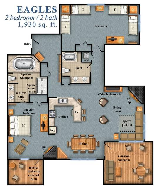 Eagles 2 Bedroom Floor Plan