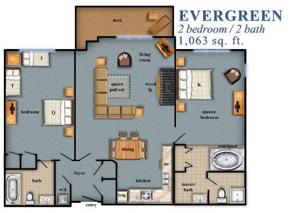 Evergreen 2 Bedroom