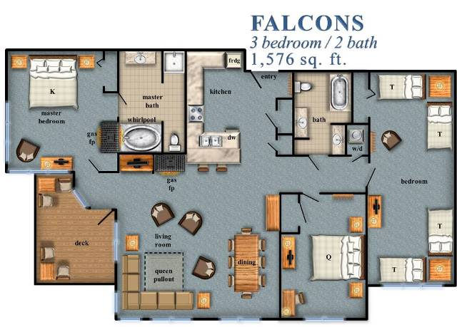 Falcons Floor Plan