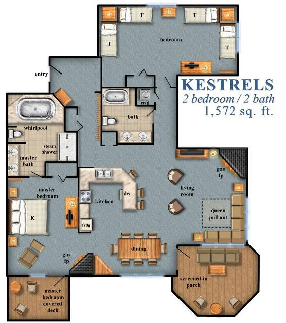Kestrels 2 Bedroom