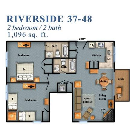 Riverside 2 bedroom 37 48 - Creative home with beautiful panorama to provide total comfort living ...