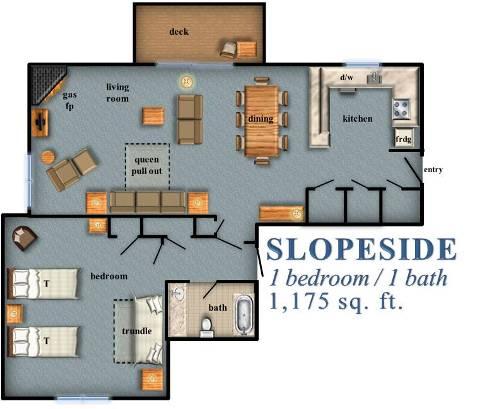 Slopeside 1 Bedroom