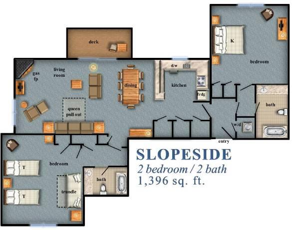 Slopeside 2 Bedroom