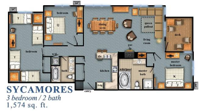 Sycamores 3-Bedroom