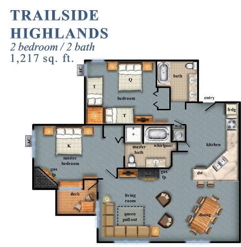 Trailside Highlands 2 Bedroom
