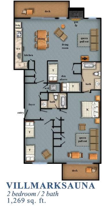 Villmarksauna 2 Bedroom