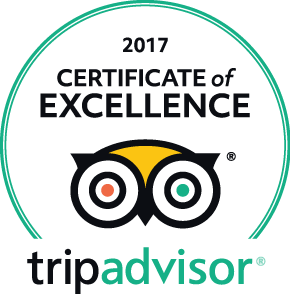 TripAdvisor 2016 Certificate of Excellence.