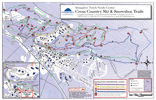 Winter Cross-country map