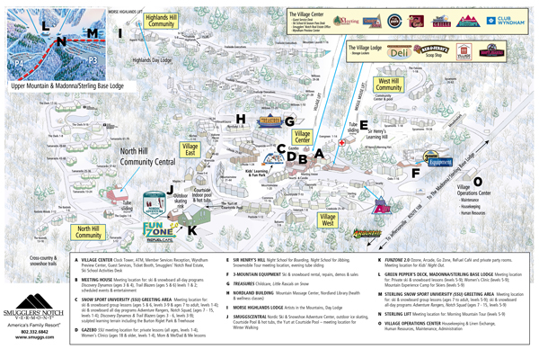 Smugglers\' Notch, Vermont - Resort Map