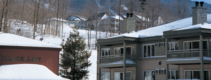 Winter at Evergreen Condominiums at Smugglers' Notch Resort in Vermont