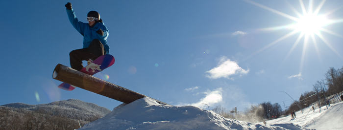 Snowboarder in the Sunshine
