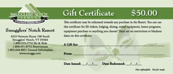 $50 Smugglers' Gift Certificate