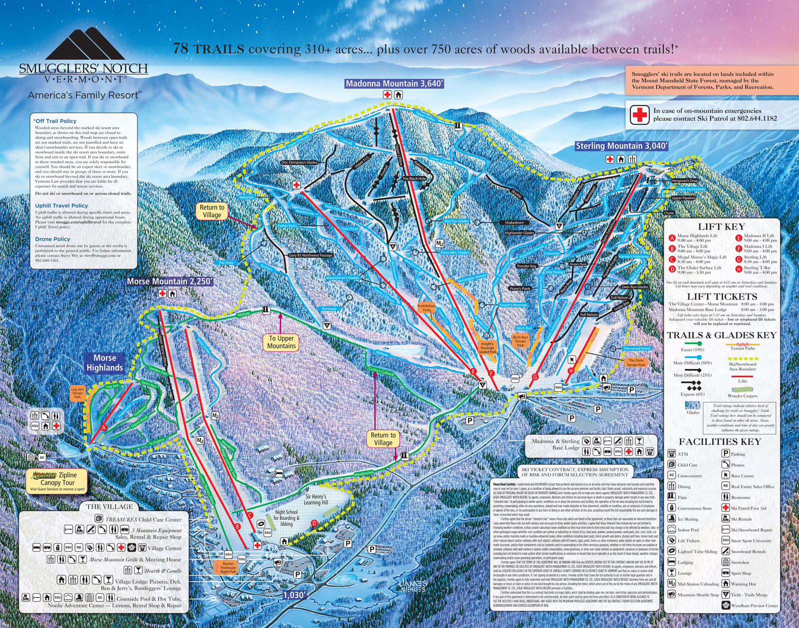 Smugglers Notch Trail Map